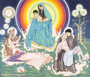 For St Francis Day  The Epiphany - Wisemen Bring Gifts to the Child